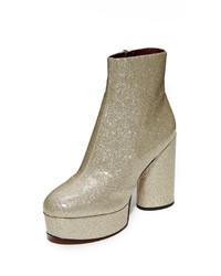Botas de cuero marrón claro de Marc Jacobs