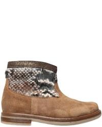 Botas de cuero marrón claro de Pom D'Api