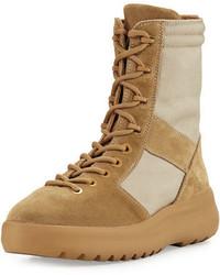 Botas de cuero marrón claro de Yeezy
