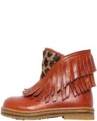 Botas de cuero marrónes