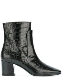 Botas de Cuero Negras de Givenchy