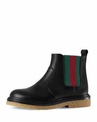 Botas de cuero negras de Gucci