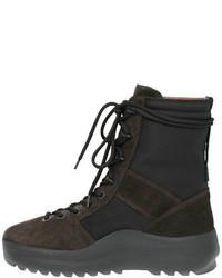Botas de cuero negras de Yeezy