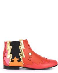 Botas de cuero rojas