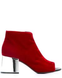 Botas de Cuero Rojas de MM6 MAISON MARGIELA