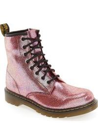 Botas de cuero rosadas de Dr. Martens