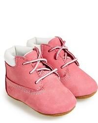 Botas de cuero rosadas de Timberland