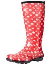 Comprar unas botas de lluvia a lunares rojas: elegir botas