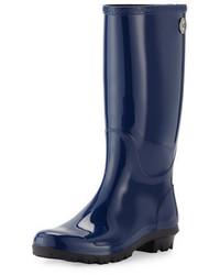 Botas de lluvia azul marino de UGG