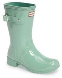 Botas de lluvia en verde menta de Hunter