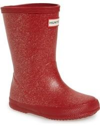 Botas de lluvia rojas de Hunter