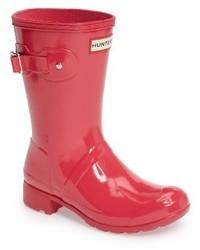 Botas de lluvia rosa de Hunter