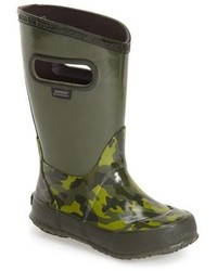 Botas de lluvia verde oscuro de Bogs
