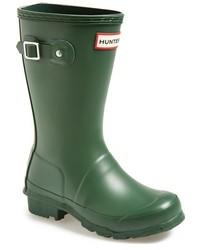 Botas de lluvia verde oscuro de Hunter