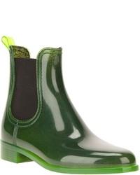 Botas de lluvia verde oscuro de Jeffrey Campbell