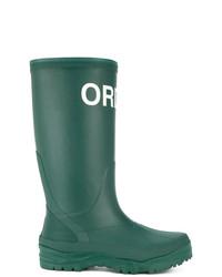 Botas de lluvia verdes de Undercover
