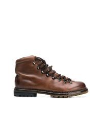 Botas de trabajo de cuero en marrón oscuro de Premiata