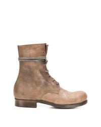 Botas de trabajo de cuero marrón claro de Dimissianos & Miller