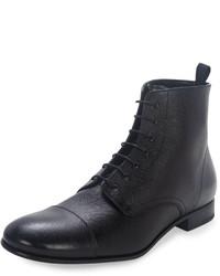 Botas formales de cuero negras de Prada