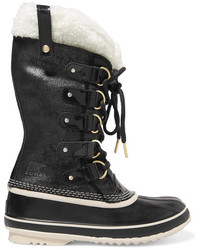 Botas para la nieve de cuero negras de Sorel