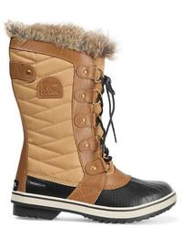 Botas para la nieve de lona marrón claro de Sorel