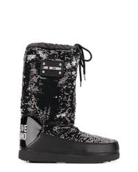 Botas para la nieve negras de Love Moschino