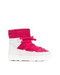 Botas para la nieve rosa de Moncler
