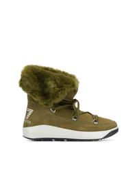 Botas para la nieve verde oliva de Ea7 Emporio Armani