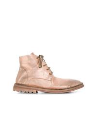 Botas planas con cordones de cuero doradas de Marsèll