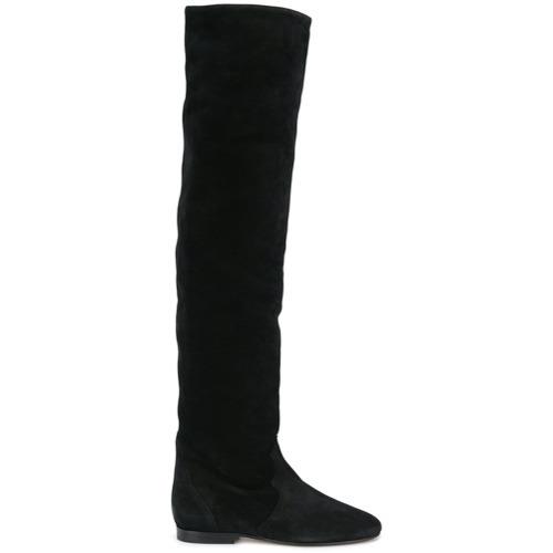 Botas sobre la rodilla de ante negras de Isabel Marant