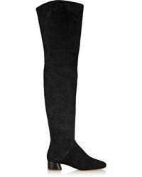 Botas sobre la Rodilla de Ante Negras de Marc Jacobs