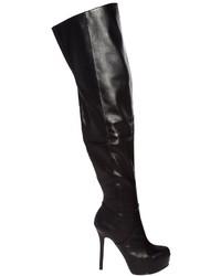 Botas sobre la rodilla de cuero negras