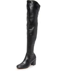 Botas sobre la rodilla de cuero negras de Rebecca Minkoff