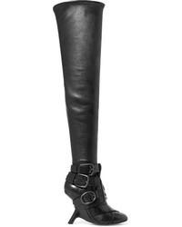 Botas sobre la rodilla de cuero negras de Tom Ford