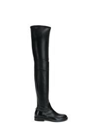 Botas sobre la rodilla de cuero negras de Valentino