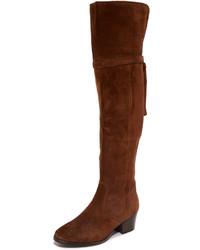 Botas sobre la rodilla marrónes de Frye