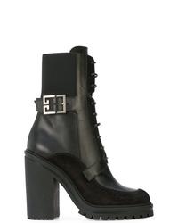 Botines con cordones de cuero negros de Givenchy