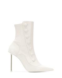 Botines de cuero blancos de Alexander McQueen