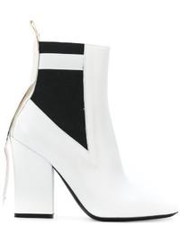 Botines de Cuero Blancos de MSGM