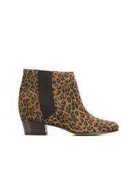 Botines de cuero de leopardo marrónes de Golden Goose Deluxe Brand