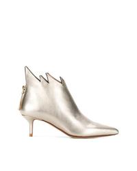 Botines de cuero dorados de Francesco Russo