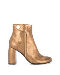 Botines de cuero dorados de Stella McCartney