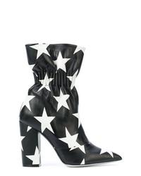 Botines de cuero en negro y blanco de MSGM