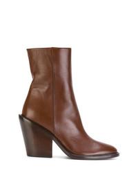Botines de cuero marrónes de A.F.Vandevorst