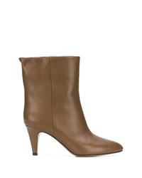 Botines de cuero marrónes de Isabel Marant