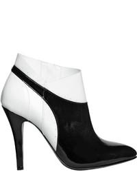 Botines de Cuero Negros y Blancos de Maison Margiela
