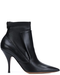 Botines de Cuero Negros de Givenchy