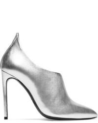 Botines de cuero plateados de Tom Ford