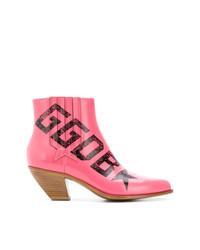 Botines de cuero rosa de Golden Goose Deluxe Brand