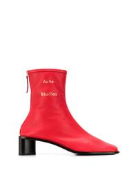 Botines de elástico rojos de Acne Studios